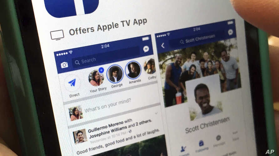 FILE - This photo shows Facebook launched on an iPhone, in North Andover, Mass., June 19, 2017.
