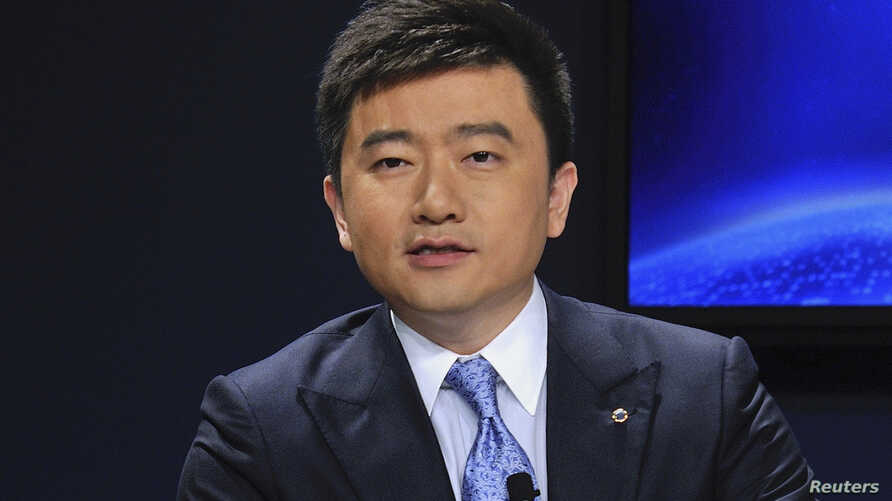 FILE - China Central Television (CCTV) host Rui Chenggang speaks during a conference in Dalian, Liaoning province, China.