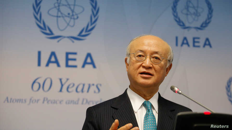 International Atomic Energy Agency (IAEA) Director General Yukiya Amano addresses a news conference after a board of governors meeting at the IAEA headquarters in Vienna, Austria, March 6, 2017.