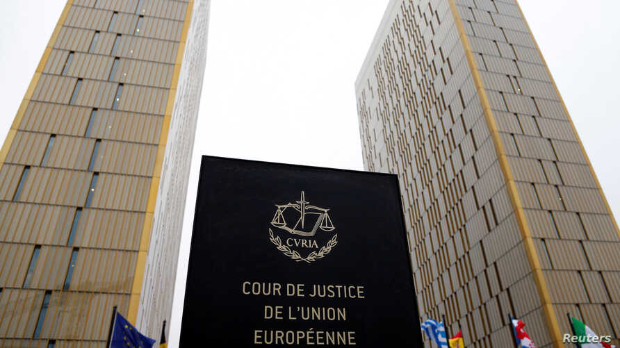 FILE - The towers of the European Court of Justice are seen in Luxembourg, Jan. 26, 2017.