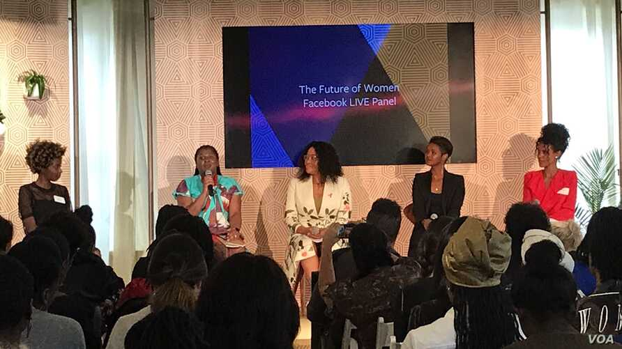 The Future of Women Facebook Live Panel, hosted by the Global First Ladies Alliance in New York, Sept 21, 2017. (Photo @SerraSippel)