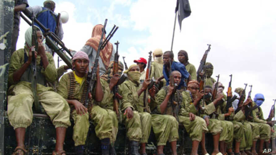 Pictured are al-Shabab militants (File Photo).