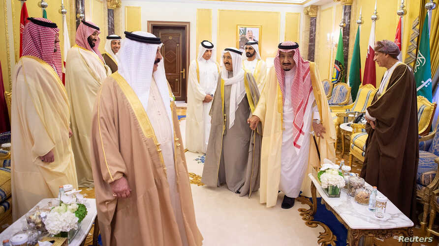 The Gulf Cooperation Council's (GCC) Leaders are seen ahead of their Summit meeting in Riyadh, Dec. 9, 2018. (Courtesy of Saudi Royal Court/Handout via Reuters)