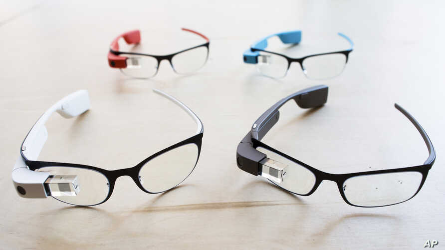 The new Google Glass prescription frames, Jan. 24, 2014.