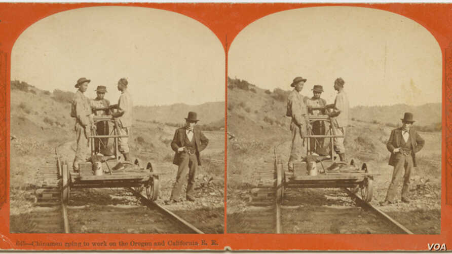 Some of the Chinese railroad workers for the Central Pacific Railroad. An event that took place 150 years ago, a strike by the Chinese workers, has become a part of American history still studied by academics today.