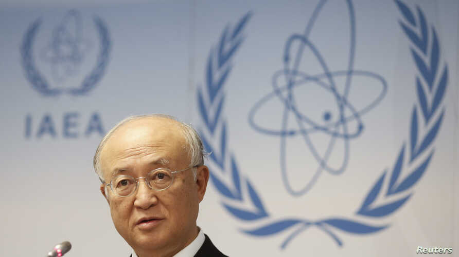 International Atomic Energy Agency (IAEA) Director General Yukiya Amano addresses a news conference during a board of governors meeting at the IAEA headquarters in Vienna, Austria, Sept. 15, 2014.