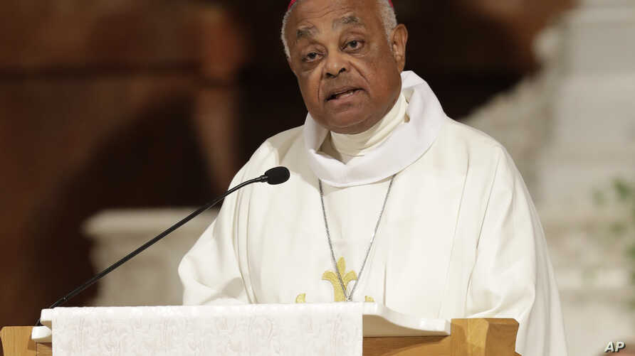 FILE - Archbishop Wilton D. Gregory speaks during a Mass to repent clergy sexual abuse and to pray for molestation victims, June 14, 2017, in Indianapolis.