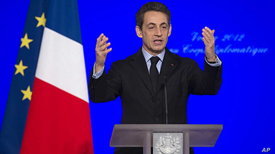 France's President Nicolas Sarkozy says he is suspending training operations in Afghanistan and threatening to withdraw the entire force from the country early, after an Afghan soldier shot and killed four French troops Friday and wounded several oth