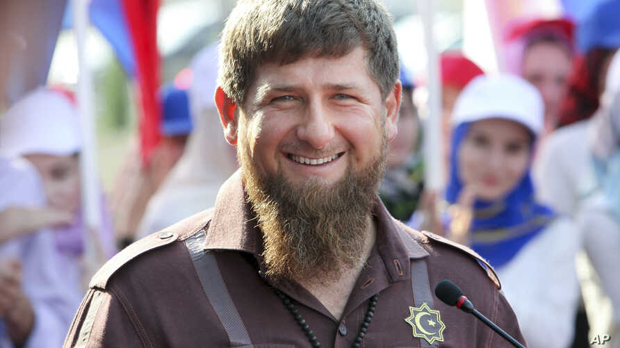 Chechnya's regional leader Ramzan Kadyrov smiles while visiting the Chechen State University in Chechnya's provincial capital Grozny, Russia, Thursday, Aug. 11, 2016.