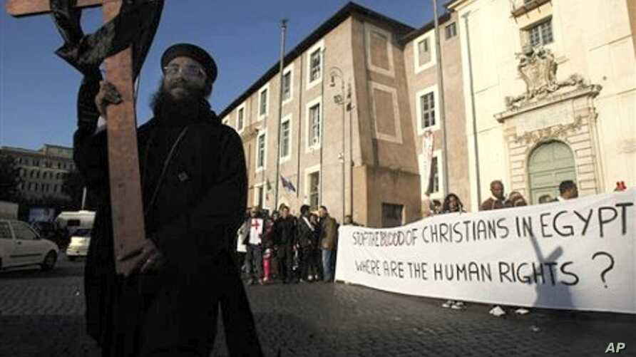 Coptic Christians gather in Rome,  to demand religious freedom and protection following a New Year's church attack in Egypt that killed 21 worshipers (File Photo)