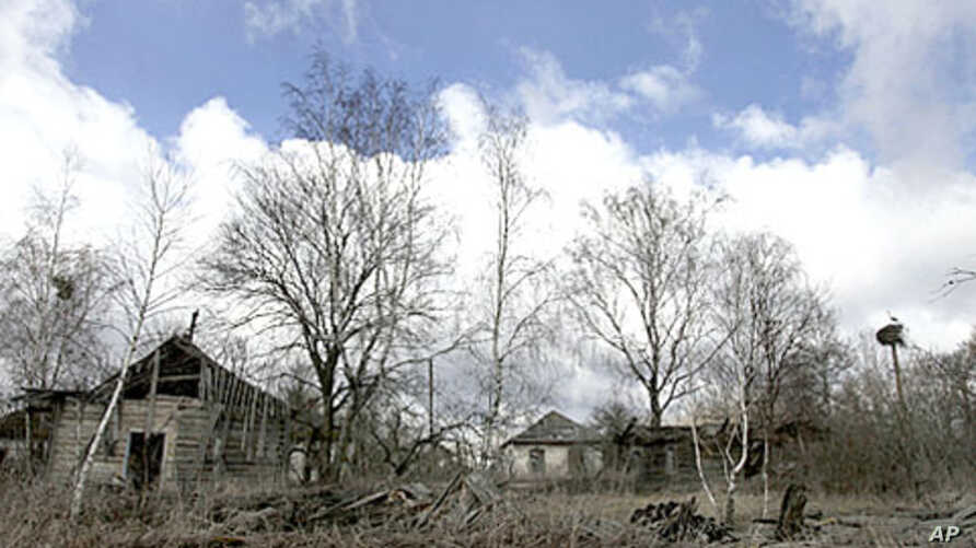 A view of the abandoned village of Redkovka, April 2011