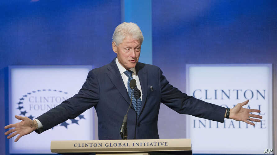 Former President Bill Clinton speaks at the Clinton Global Initiative, Sept. 27, 2015  in New York.