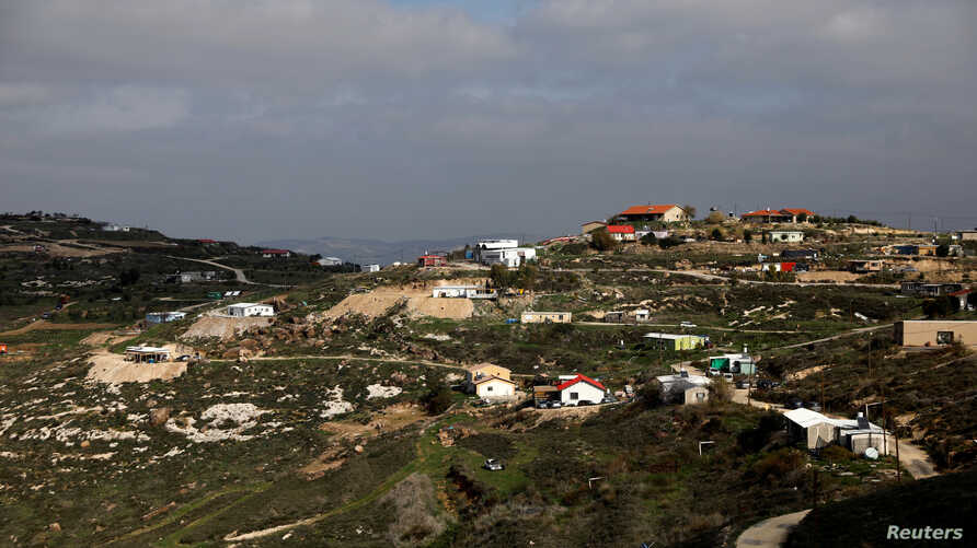 FILE: A general view of the Havat Gilad settlement outpost, West Bank, Jan. 10, 2018.