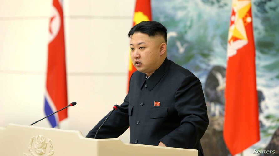 North Korean leader Kim Jong Un speaks during a banquet in Pyongyang in this image released by the North Korea's KCNA news agency December 22, 2012.