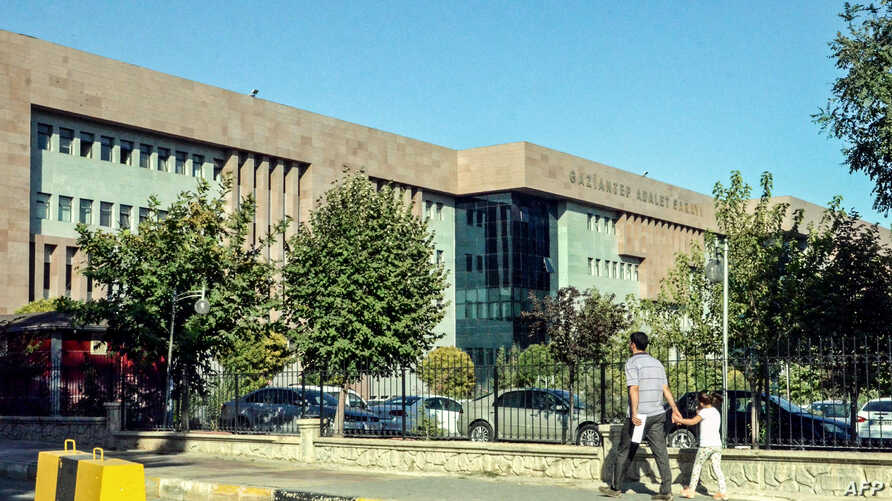 FILE - The courthouse in Gaziantep, Turkey, where Australian jihadist Neil Prakash, detained by Turkey last year on charges of joining the Islamic State extremist group in Syria.