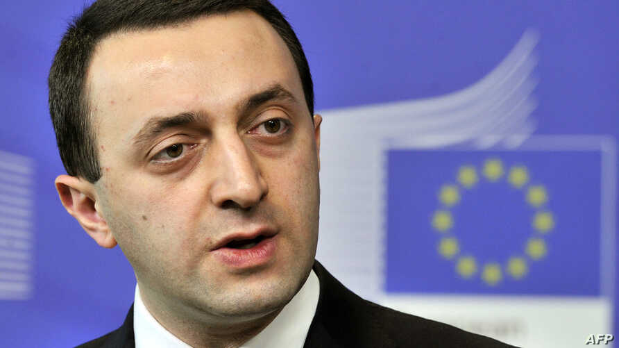 Georgia's Prime Minister Irakli Garibashvili speaks during a press conference with the European Commission President following their working session on Feb. 3, 2014 at EU headquarters in Brussels.