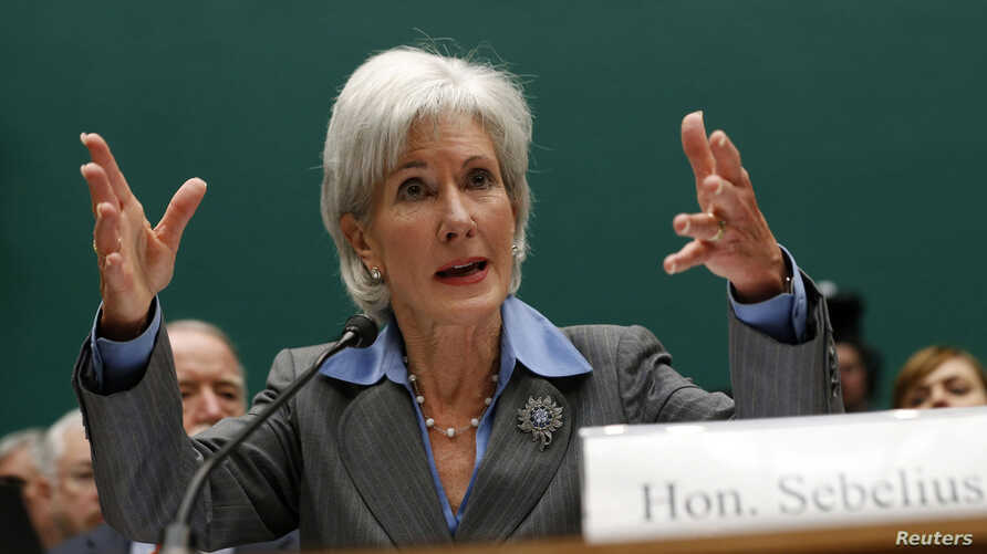 U.S. Secretary of Health and Human Services Kathleen Sebelius testifies before a House Energy and Commerce Committee hearing on the failures of the Affordable Care Act enrollment website on Capitol Hill in Washington, Oct. 30, 2013.