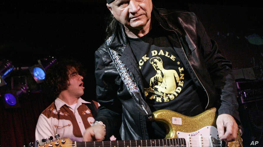 "FILE - In this May 27, 2007 file photo, Dick Dale, known as ""The King of the Surf Guitar,"" performs at B.B. King Blues Club in New York. Dale has died at age 81."