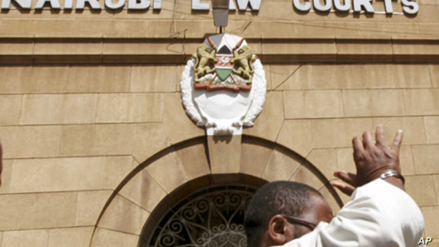 Exterior view of Nairobi Law Court showing main entrance (file photo)