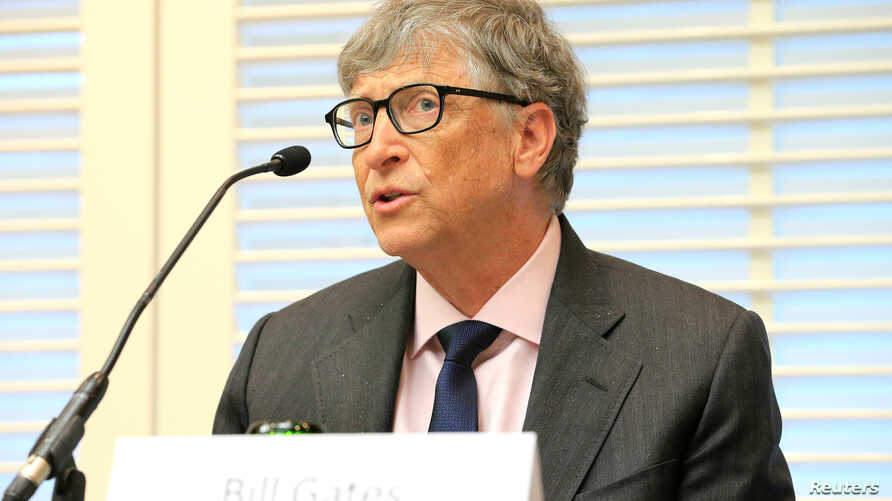 Bill Gates, co-founder of the Bill & Melinda Gates Foundation, speaks during a news conference on neglected tropical diseases in Geneva, Switzerland, April 18, 2017.
