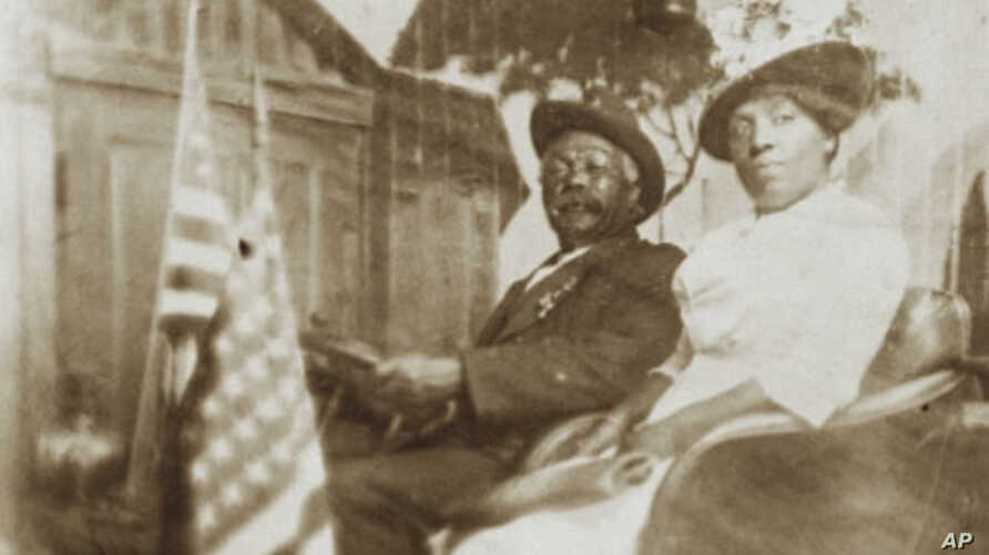Laborer Henry Hawkins, a Native American man, and his African-American wife, Mary Thompson, both worked for the Dickinson family.