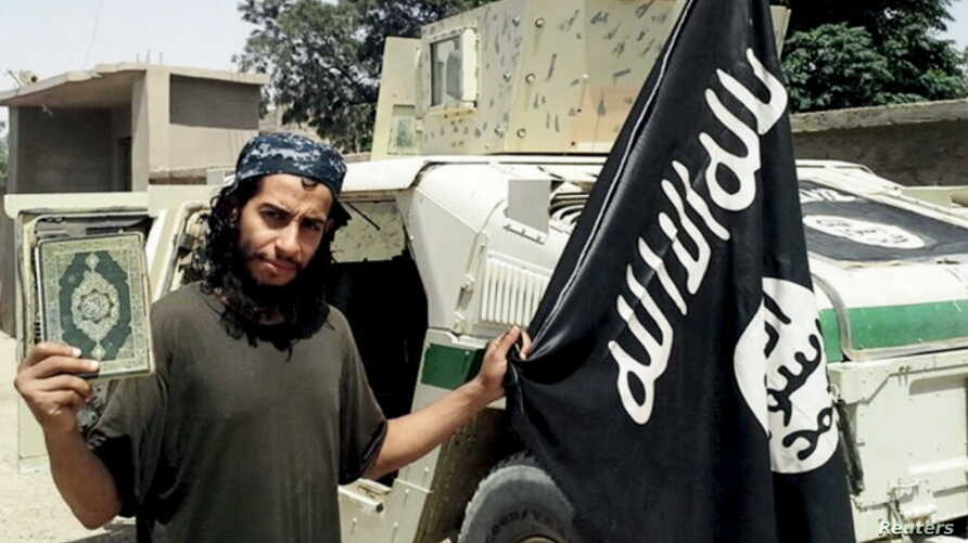 An undated photograph of a man described as Abdelhamid Abaaoud that was published in the Islamic State's online magazine Dabiq and posted on a social media website. A Belgian national currently in Syria and believed to be one of Islamic State's most