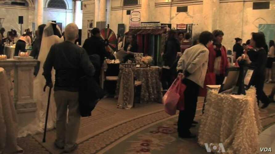 Gay and Lesbian Couples Attend Wedding Expo