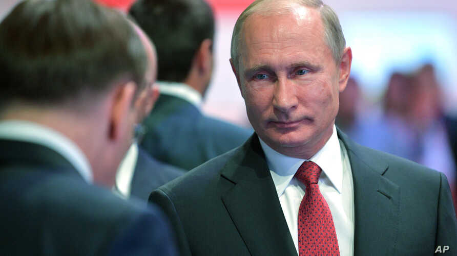 Russian President Vladimir Putin is pictured at a meeting with students in Yaroslavl, Russia, Sept. 1, 2017. Putin said that whoever reaches a breakthrough in developing artificial intelligence will come to dominate the world.
