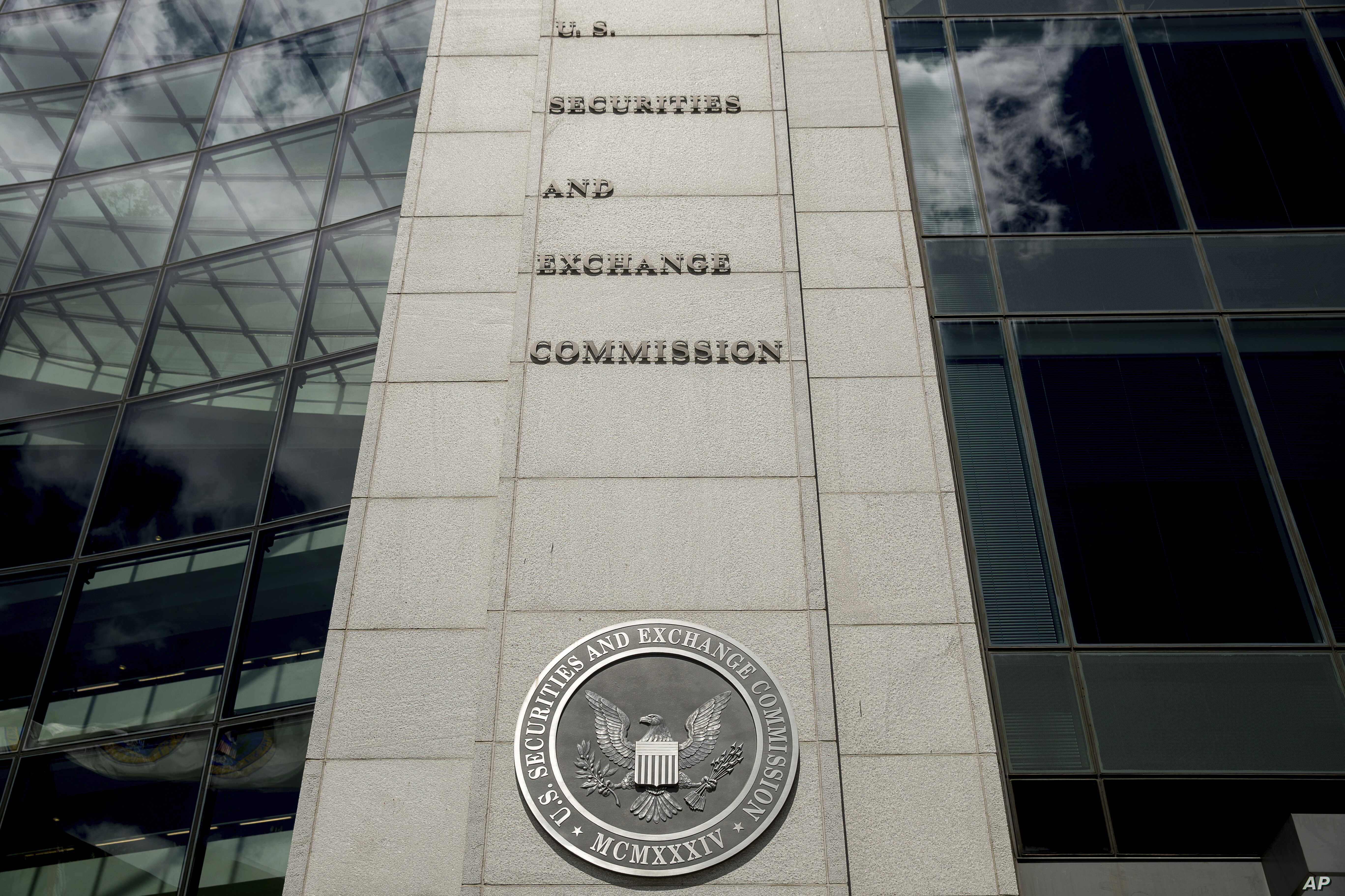 FILE - U.S. Securities and Exchange Commission building in Washington.