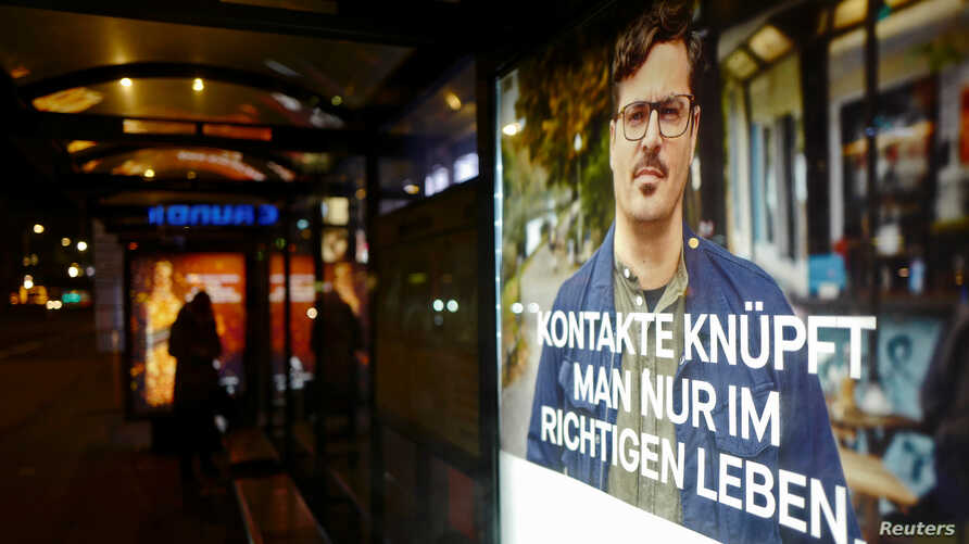 FILE - A Facebook advertisement is pictured in Berlin, Germany.