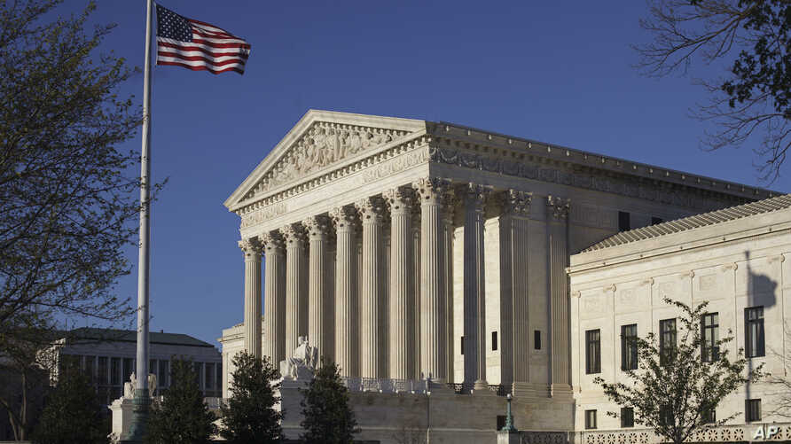 FILE - The Supreme Court building is seen in Washington, D.C, April 4, 2017. In an era of deep partisan division, the court could soon decide whether the drawing of electoral districts can be too political.