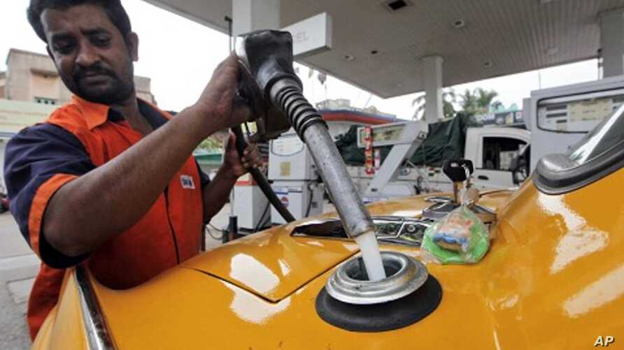 Man fills up with diesel at a fuel station in Kolkata (2011 File)