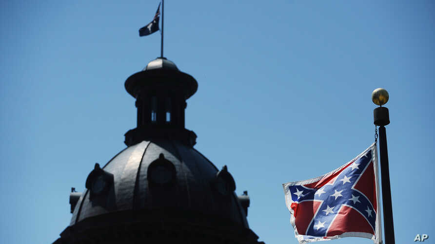 The Confederate flag flies near the South Carolina Statehouse in Columbia, S.C., June 19, 2015.