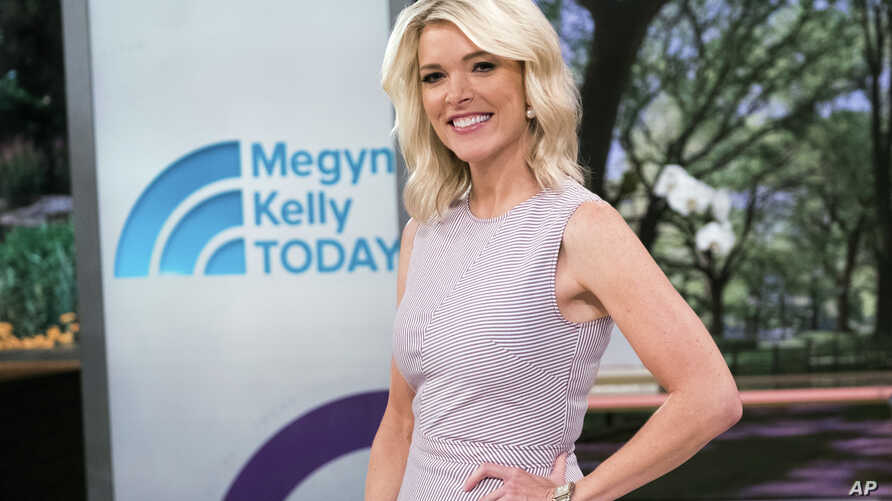"Megyn Kelly poses on the set of her new show, ""Megyn Kelly Today"" at NBC Studios, Sept, 21, 2017, in New York."