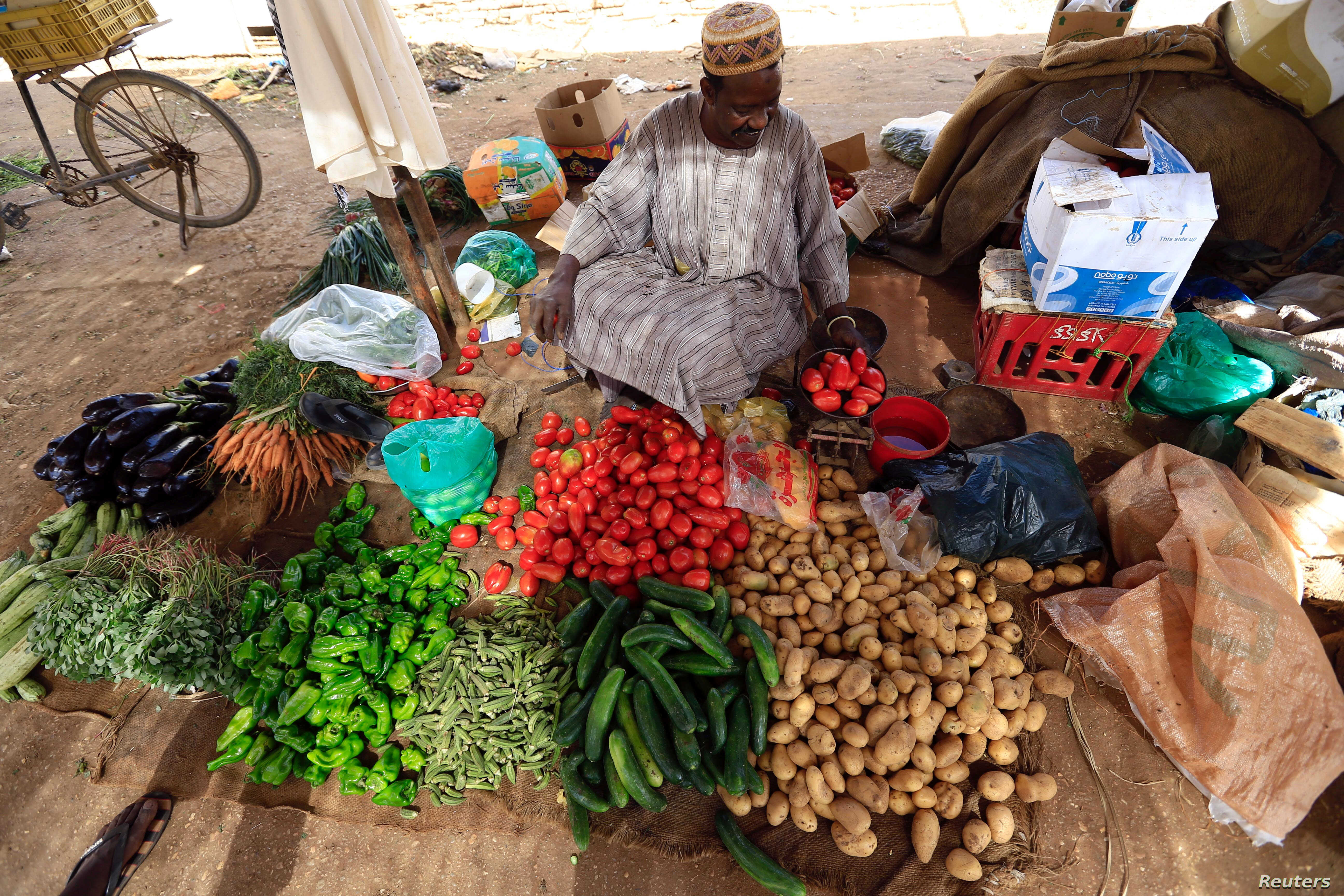 A street vendor waits for customers in Khartoum, Sudan Dec. 2, 2016. If African countries want to be able to feed a quickly increasing population, leaders need to start planning now, according to a report in the Proceedings of the National Academy of