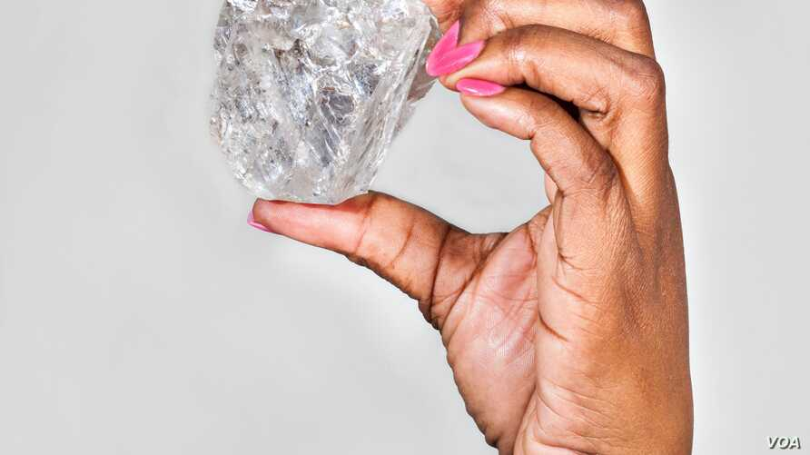 A 1,111-carat diamond has been found in Botswana.