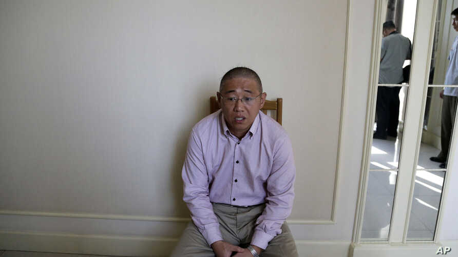 Kenneth Bae, an American tour guide and missionary serving a 15-year sentence in North Korea,  speaks to the Associated Press in Pyongyang, Sept. 1, 2014.