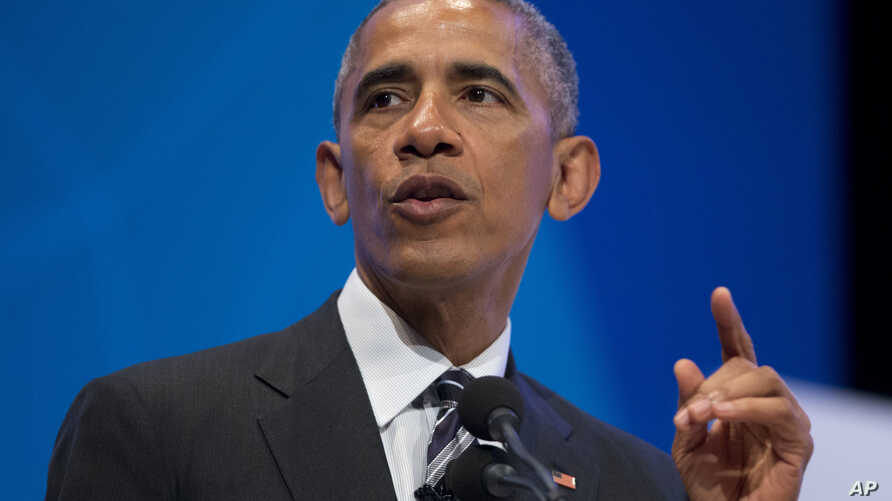 President Barack Obama speaks at the Global Entrepreneur Summit at Stanford University in California, June 24, 2016, where he gave opening remarks on Britain voting to leave the 28-nation European Union.