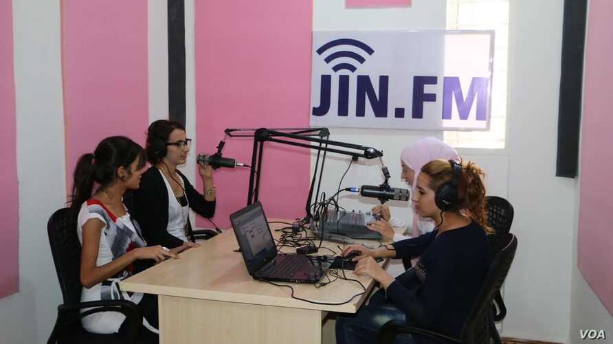 JIN-FM, a station that specializes in women issues.