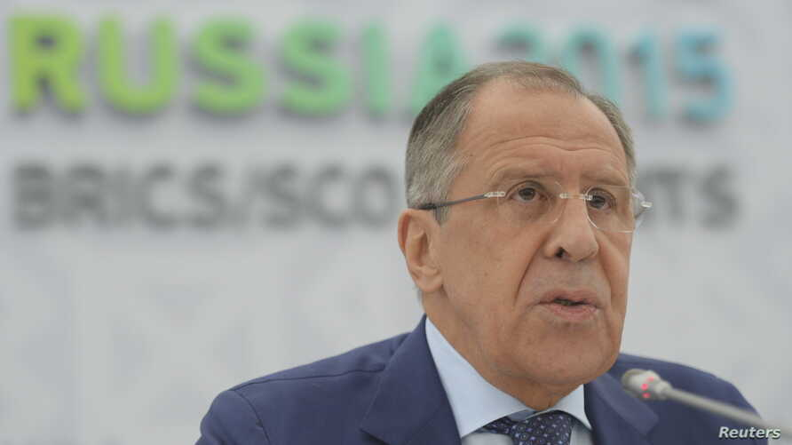 Russia's Foreign Minister Sergei Lavrov, who said he is ready to return to Vienna for talks between Tehran and six major world powers, speaks during a news briefing in Ufa, Russia, July 9, 2015.