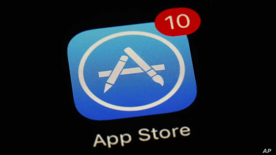 FILE - Apple's App Store app is seen in Baltimore, MD., March 19, 2018.