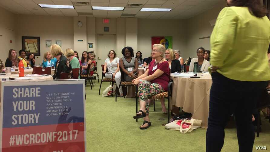 """Seventy-five women attended the September """"Women Can Run"""" conference in Tallahassee, Florida. They could choose from workshops geared toward two types of campaigns: those who have announced for office and those still considering a candidacy.   (C. Pr"""