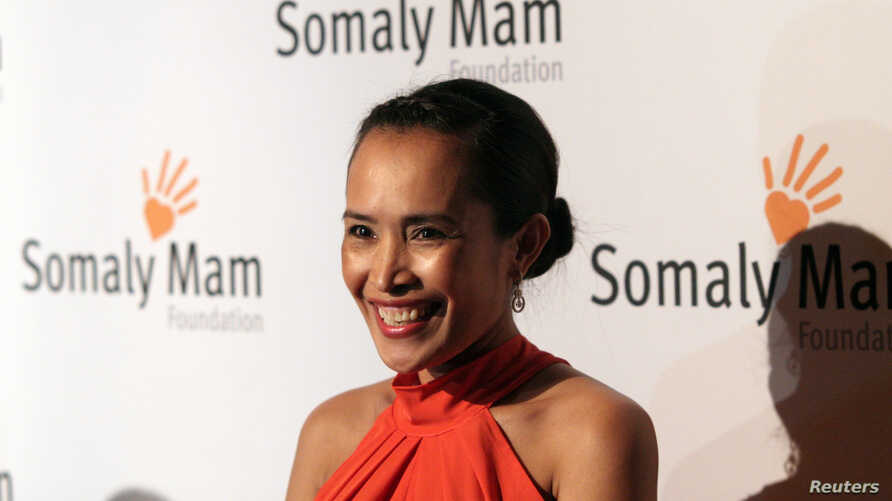 FILE - Anti-sex trafficking advocate Somaly Mam is seen attanding the Somaly Mam Foundation Gala Oct. 23, 2013, in New York.