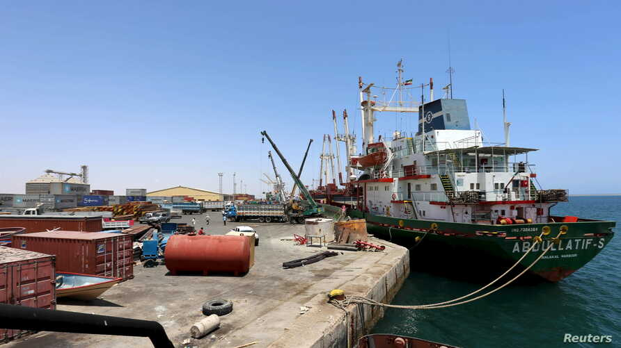 FILE - A ship docks at the port in Berbera, Somaliland, Somalia. A tentatively approved deal would nearly triple the port's size.
