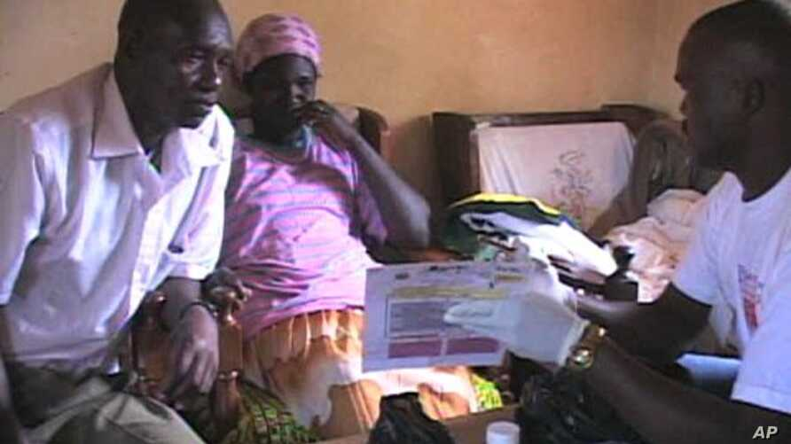 In Kenya door-to-door counselors undergo special training on how to test couples and families for HIV