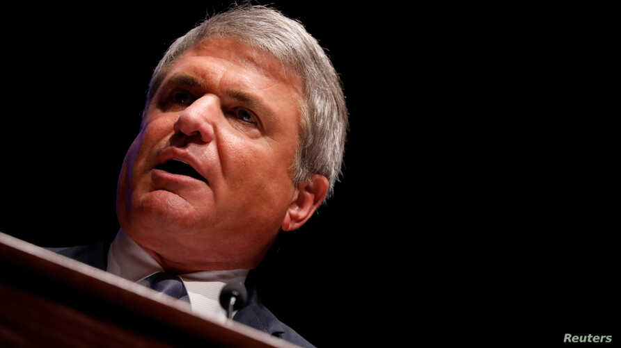 FILE - Rep. Michael McCaul (R-TX) speaks at the Capitol Hill National Security Forum at the US Capitol in Washington, US.