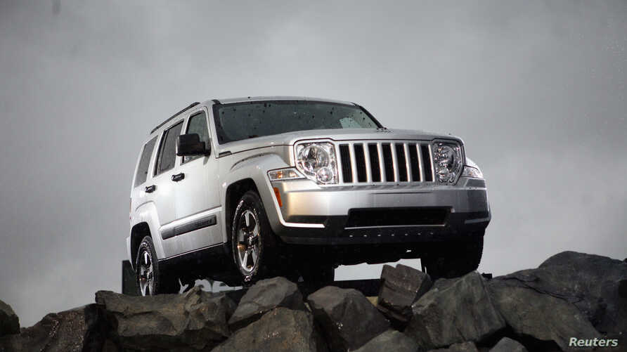 FILE - The new 2008 Jeep Liberty is unveiled at the New York International Auto Show in New York, April 4, 2007.