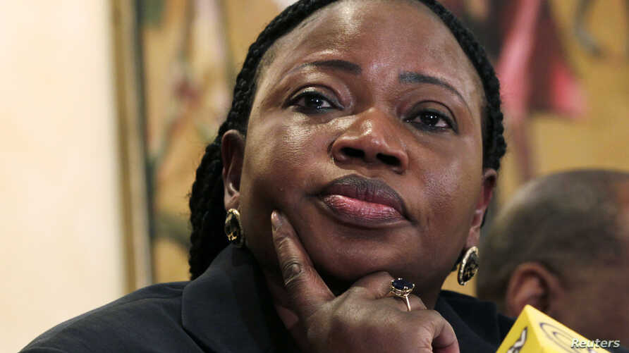 FILE - Chief Prosecutor Fatou Bensouda of the International Criminal Court (ICC) listens to a question from a journalist during a media briefing in Kenya's capital Nairobi, October 25, 2012.