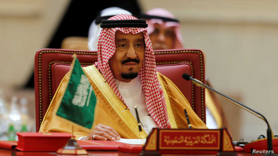 "Saudi King Salman argued that Gulf countries must strengthen mutual cooperation in the face of Iran's ""meddling."""