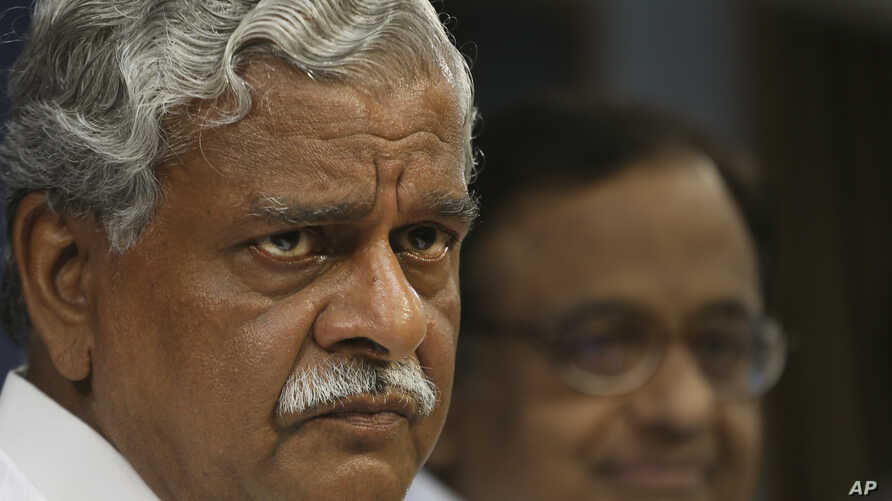 Indian Coal Minister Shriprakash Jaiswal attends a press conference in New Delhi, India, August 24, 2012.